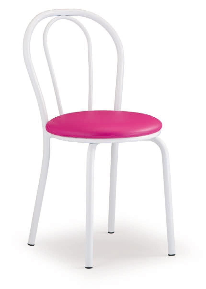 SE 025, Grundmetallstuhl, gepolsterter Sitz, für Snacks an der Bar