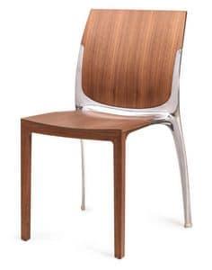 SE 800 / INT, Stapelstuhl aus Holz und Metall, für den Objektbereich