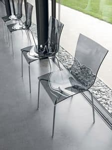 ARIA EASY, Minimal Stuhl, mit Nylon-Shell, stapelbar