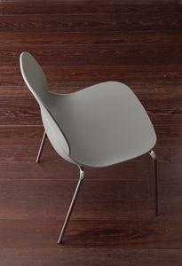 Art. 019 Shell Metal, Metall und Polypropylen Stuhl, stapelbar