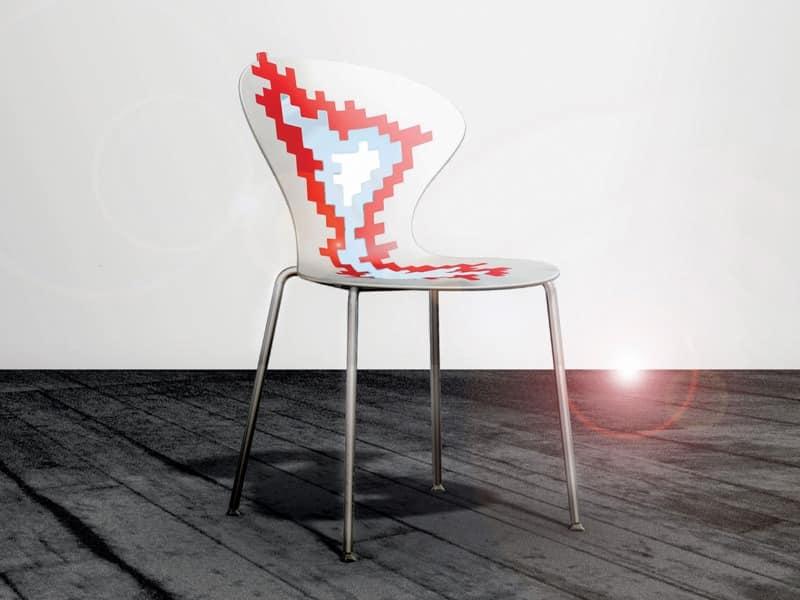 Big Bang, Metallstühle mit Kunststoffsitz, für Konferenzraum