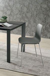 COLONIA SE182, Stuhl mit Metallgestell, Sitz und Rückenlehne aus Polypropylen, in der modernen Art