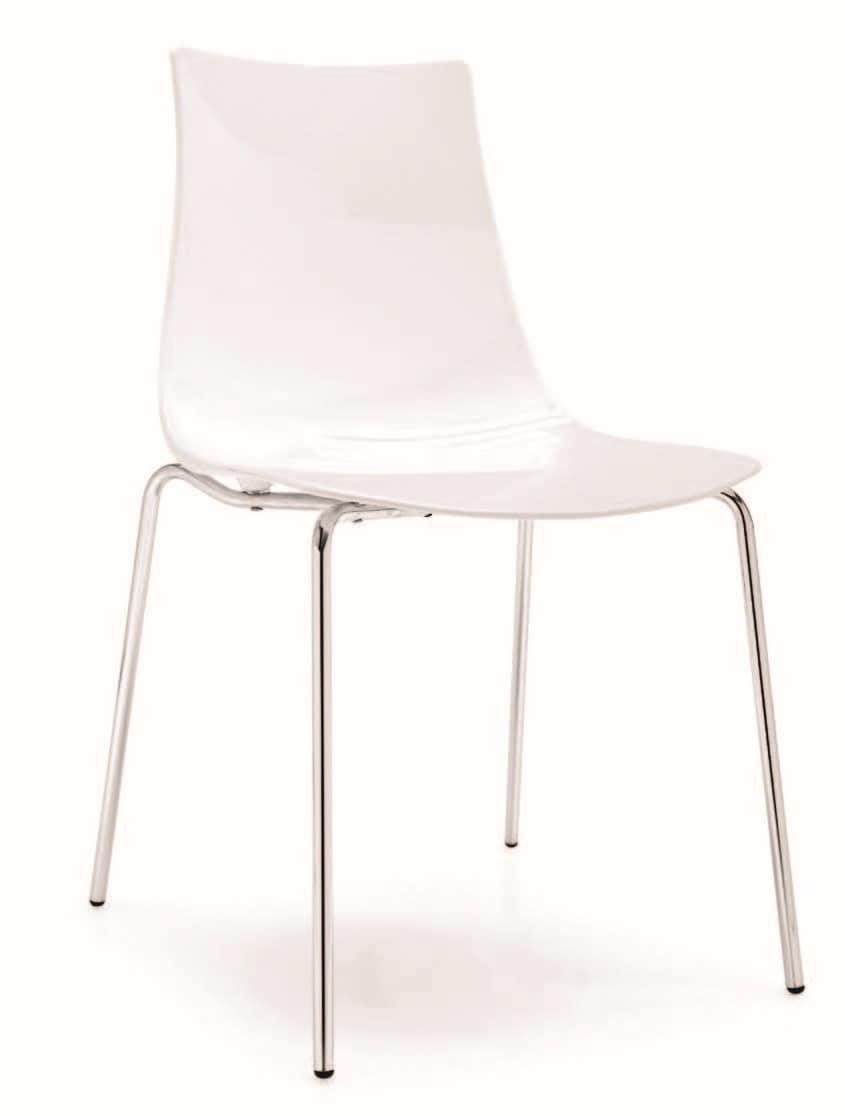SE 2270, Stuhl mit Rückenlehne aus Kunststoff, verschiedene Farben, für Restaurant