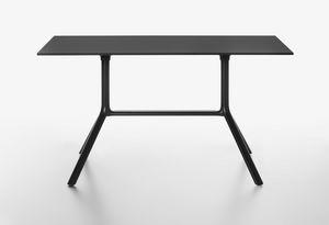 Miura mod. 9586-01 / 9587-01, Rechteckiger Tisch mit Klappplatte
