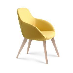 Amber, Umhüllender Sessel, Holzsockel