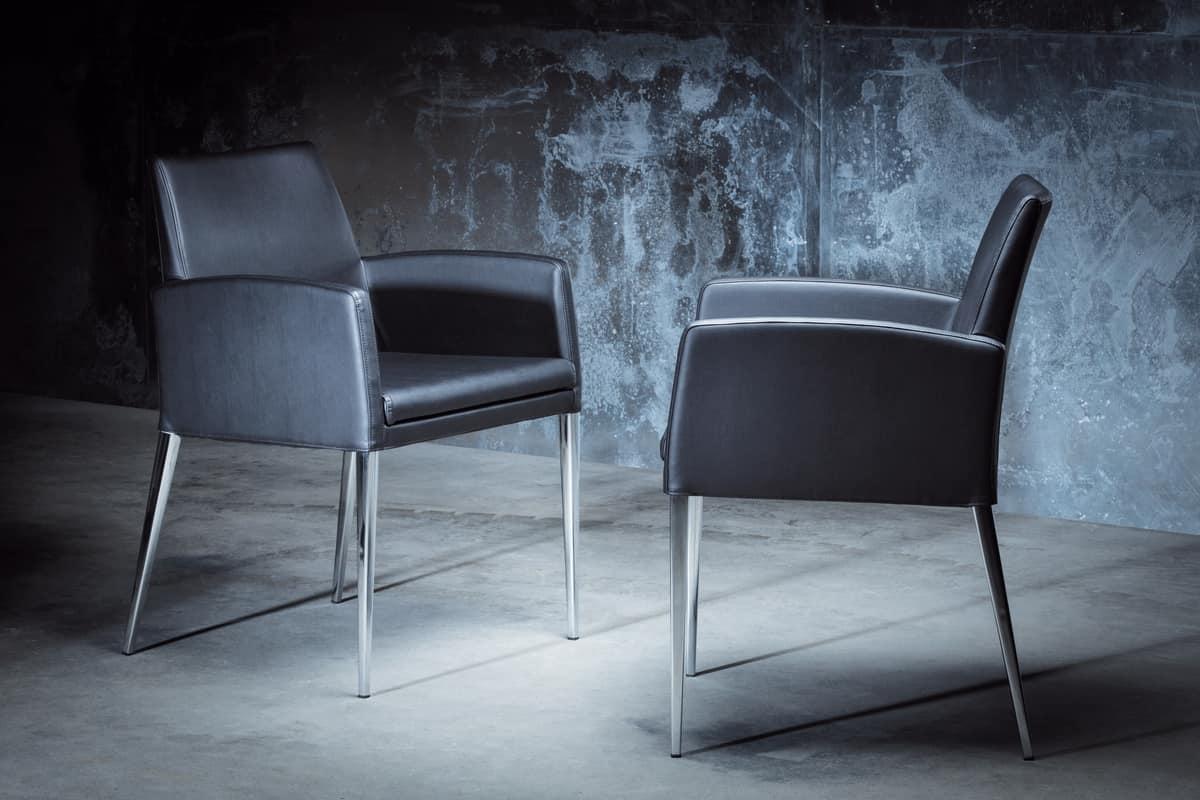 ART. 247/3 HOLLYWOOD ARMCHAIR, Stühle mit modernen Linien, für die Leseecke