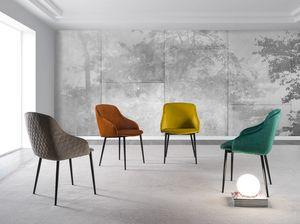 Art. 381 Pigalle Due, Stuhl mit weichen Linien