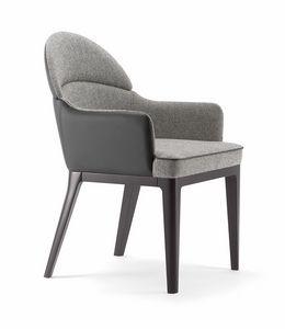 ASTON ARMCHAIR 062 PO, Kleiner Sessel mit abgerundeter Rückenlehne