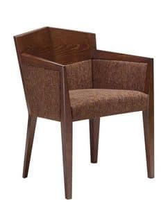 C35, Sessel mit Armlehnen aus Buchenholz, gepolsterter Sitz und Rücken mit Stoff überzogen, für Restaurants und Hotels