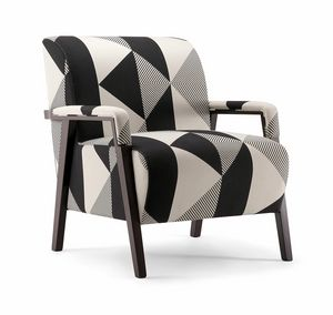 CARTER LOUNGE CHAIR 068 P, Sessel mit eleganter Polsterung