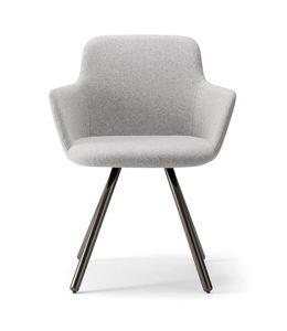 CLOÈ ARMCHAIR 025 PL, Sessel mit Metallbeinen