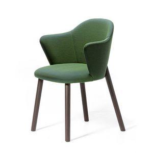 Doc AR, Gepolsterter kleiner Sessel mit Gestell aus lackiertem Eschenholz