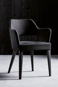 PARIGI P, Sessel mit Armlehnen und gepolstertem Sitz