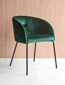 PL 1901, Sessel mit gepolsterter Polyesterschale