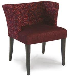 Portofino, Gepolsterte Sessel in Holz, für den Objektbereich