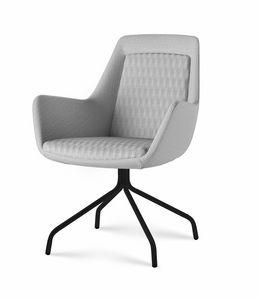 Roxy chair, Stuhl mit anpassbarer Metallbasis