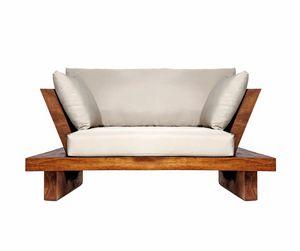 Suar 0204, Sessel aus Massivholz und Stoff