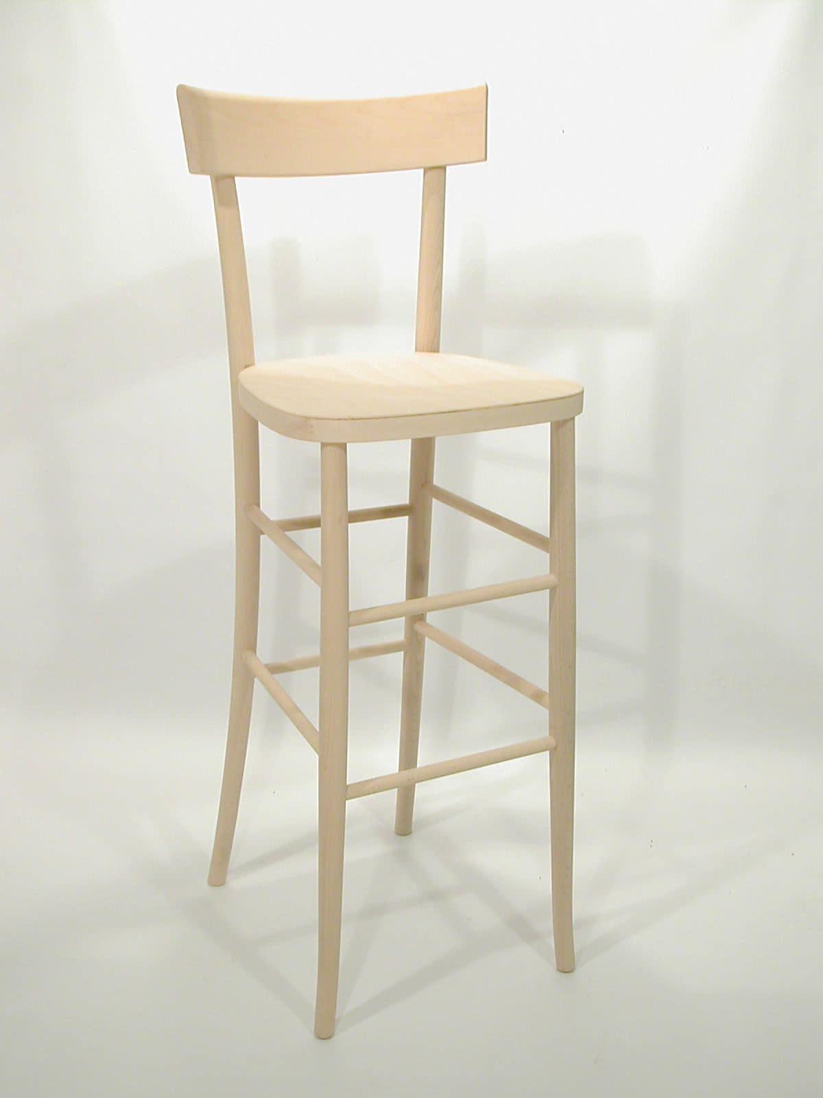 Milano Barhocker, Stuhl aus Buche für Pubs, Bars und Restaurants