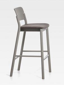 Pop, Moderner Hocker mit gepolstertem Sitz
