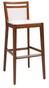 SG 4472 / CI, Gepolsterter Hocker aus Holz, mit verschiedenen Oberflächen, für Bar