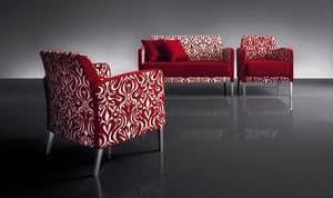 ART. 950 HOLLYWOOD ARMCHAIR, Sessel mit modernen Linien, für TV-Raum