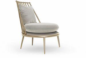 Aurora Armlehnsessel aus Eisen, Sessel mit Lattenrücken