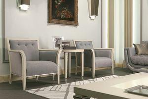 Dahlia 367PSal, Sessel aus Holz, gepolstert