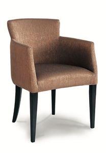 DALLAS P, Sessel mit Beinen aus lackiertem Holz