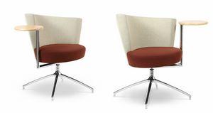 ELIPSE 1TR, Sessel mit Rundsitzgruppe, mit integriertem Tisch