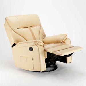Entspannender Liegesessel mit Schaukelstuhl und 360 -Drehung aus SISSI-Lederimitat. XL - SR683PEE, Entspannungssessel mit Schaukelsystem