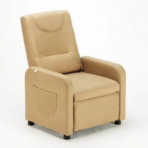 Entspannender Liegesessel mit Stoff-Fußstütze ANNA Design - SR6203FE, Entspannungssessel aus Stoff
