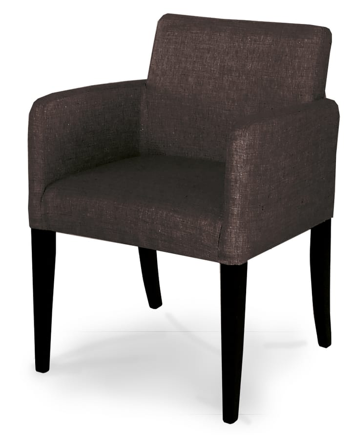 MADRID, Quadratischer Sessel mit Samtbezug