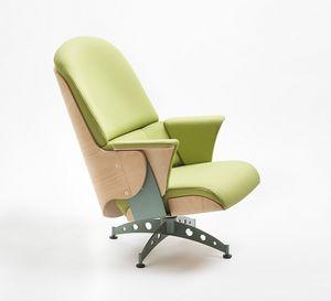 Milano lounge, Sessel mit Drehgestell