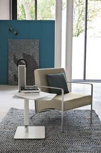 NEVADA PT101, Sessel mit Metall Armlehnen und gepolsterter Sitz