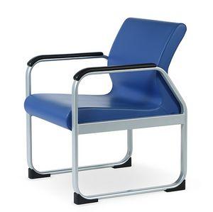 ONE 401 A, Stuhl mit Stahlrahmen, schlanke Form