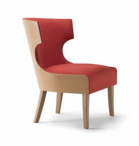 XIE LOUNGE CHAIR 053 P, Sessel mit umhüllender Rückenlehne
