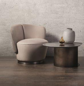 Yvonne, Sessel mit weichen und einhüllenden Formen