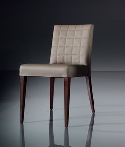 ART. 221 FLORANCE, Weichen Stuhl für den modernen Wohnraum, in Leder