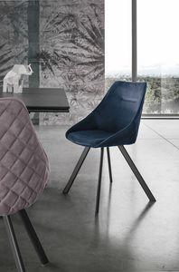BILBAO SE194, Gepolsterter Stuhl mit umhüllender Schale