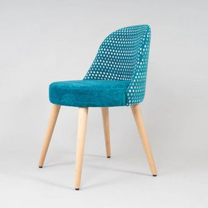 BS526S - Stuhl, Stuhl mit abgerundeter Sitzfläche und Rückenlehne
