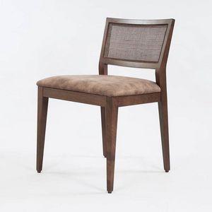 BS547S - Stuhl, Holzstuhl mit gepolstertem Sitz