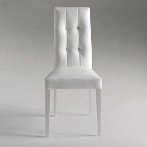 Dallas, Eleganten Speisesaal Stuhl mit Rückenlehne mit Knöpfen
