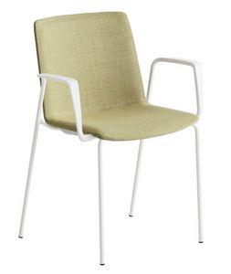 Jubel NA-TB, Gepolsterter Stuhl aus Metall