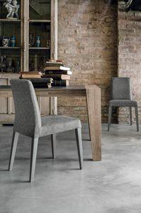 LUCERNA SE514, Moderner Stuhl aus massivem Holz mit Schale in weicher Berührung