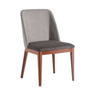 Margot, Moderner Stuhl aus gepolstertem Holz