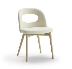 Mirò, Gepolsterter Stuhl mit modernem Design
