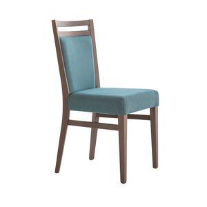 MP472F, Stuhl aus Holz, modern und gepolstert