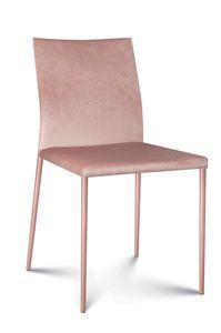 Plata Stoff, Moderner Stuhl mit Stoffbezug