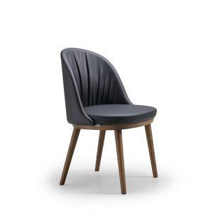 Rose, Moderner Stuhl mit abgerundeter Rückenlehne