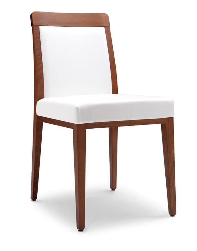 SE 49 / E, Moderner Stuhl mit gepolstertem Sitz, für Restaurants